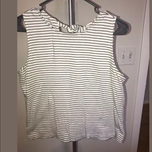 J. Crew Tank Shirt Black and White Striped Small
